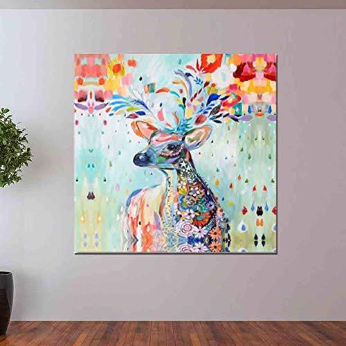 tzxdbh Canvas Schilderen Olifant Wall Art Decor Posters En Prints Muurfoto's Voor Dierlijke Herten Zebra Woonkamer Muurdecoratie 45x50cm 3