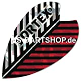 MS-DARTSHOP Dartflights Vortex, 3 Satz = 9 Stück, Incl. 1 Satz MS-DARTSHOP Flights (Rot/Silber)