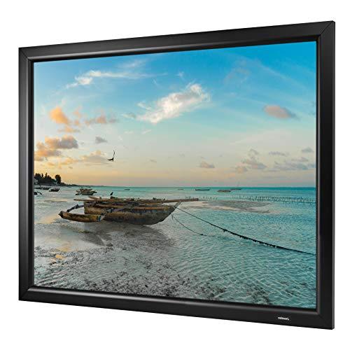 celexon Heimkino- und Präsentations-Rahmen-Leinwand mit Stecksystem und optimaler Planlage Home-Cinema Frame - 160x90 cm - 16:9 - Gain 1,2