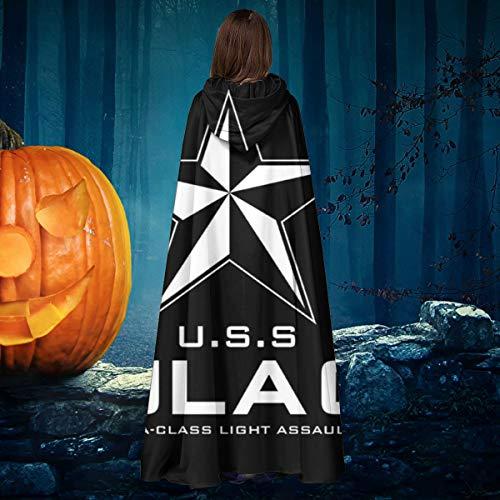 AISFGBJ USS Star Sulaco Aliens - Disfraz de Bruja con Capucha para Disfraz de Vampiro