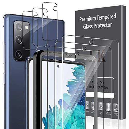 6 Pack LK 3 Pack Screen Protector & 3 Pack Camera Lens Protector Compatible with Samsung Galaxy S20...
