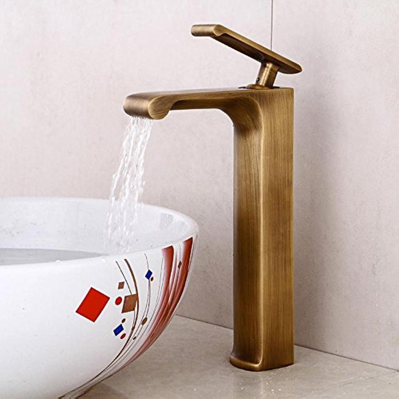 Brown Antique basin Faucet All copper hot and cold mixer faucet Basin Faucet