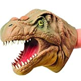 S.S. Soft Hand Puppet Rubber Realistic 6 Inch Tyrannosaurus Rex Dinosaur Hand Puppet