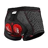 X-TIGER Hombres Ropa Interior de Bicicleta con 11D Gel Acolchado MTB Boxer Ciclismo Pantalones Cortos