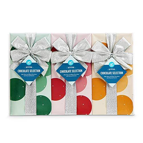 Marca Amazon - Happy Belly Selección de bombones de chocolate belga, 3 x 250g