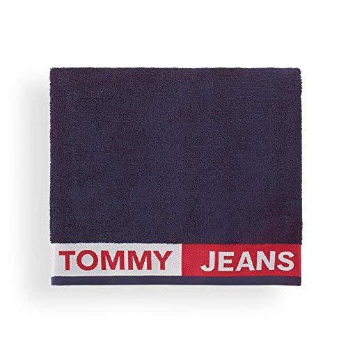 Tommy Hilfiger Toalla de playa Tommy con bandera de 90 x 170 cm, color azul marino