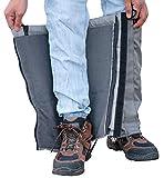 Water Repellent Fleece-Lined Winter Gaiters - Slimmer Fit - Gray
