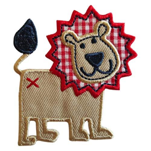 TrickyBoo 2 opstrijkbare leeuw 6 x 7 cm hooikrek 7 x 6 cm set patch applicaties voor het repareren van kinderkleding met design Zürich Zwitserland voor Duitsland en Oostenrijk