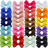 40pcs 2.5'Baby Girls Tiny Hair Bows Clips Grosgrain Ribbon Bows Hair Barrettes Accesorios para el cabello para niñas Niños pequeños Niños Niños Adolescentes