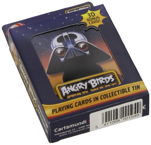 Cartamundi 22500194 – Angry Birds Star Wars Cartes de Jeu, Dark Vador