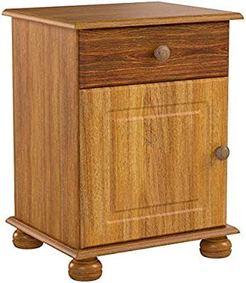 in Legno di Pino Comodino con 1 Porta e 1 cassetto Steens Furniture Richmond