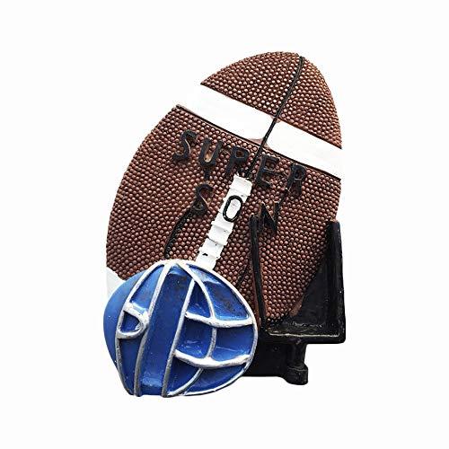 USA 3D American Football Kühlschrankmagnet, Souvenir, Geschenk für Sohn, handgefertigt, Heim- und Küchendekoration, Rugby-Kühlschrank-Magnet-Kollektion