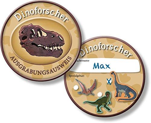 DH-Konzept NEU Ausweis Dino-Forscher, 6 Stück