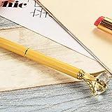 Gel Pen Bolígrafo Crystal Girl Bolígrafo Metal Diamante Grande-Amarillo_Negro