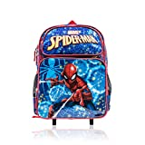 """Marvel Boys' Spiderman Wheeled 16"""" Backpack with Retractable Handle"""
