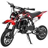 49CC 2-Stroke Gas Power Mini Dirt Bike Dirt Off Road Motorcycle (Red)