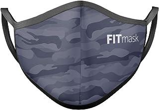 FITmask Mascarilla Reutilizable Lavable Certificada Tejido Hidrófugo Made in Spain Black Camo - Adulto Orejera - L