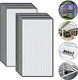 Juego de 14 láminas de policarbonato multicapa de doble pared resistente a los rayos UV para invernadero (605 x 1.210 x 4 mm)