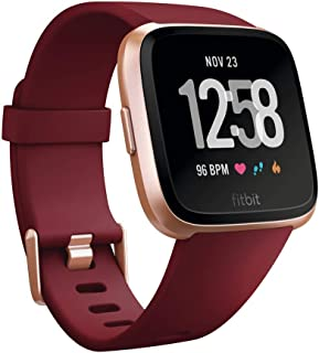 Fitbit Versa Smartwatch with Limited Edition Ruby Band, Ruby/Rose Gold Aluminium, One Size (S & L Bands Included)