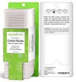 Cotton Swabs Organic by Sky Organics (2 pack 1000ct total) Natural Cotton Buds Cruelty-Free Cotton Swabs Biodegradable All Natural Cotton Swabs Chlorine-Free Hypoallergenic Cotton Swabs