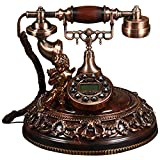Telefono retrò, Telefono Antico in Resina Ufficio Home Soggiorno Decorazione Rete Fissa