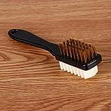 LXDDP 2-seitige Reinigungsbürste Radiergummi Set Fit für Wildleder Nubukleder Schuhe Stahl Kunststoff Gummi Stiefel Reiniger Fleck Staub Schuhe Pinsel Reinigungswerkzeuge