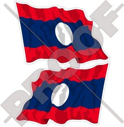 LAOS Waving Flag Lao Democratische Volksrepubliek, Laotiaanse ASIA 3