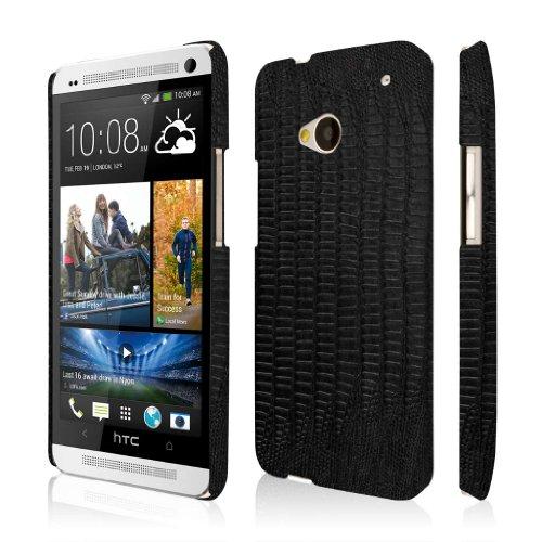 EMPIRE KLIX Slim-Fit Hard Case for HTC One M7 - Black Leather Croc