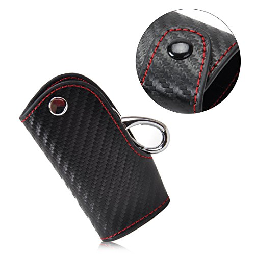 beler Leather Smart Car Key Case Vehicle Remote Keyring Chain Keyless Fob Cover Holder Bag (Fulfilled by Amazon)