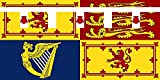 magFlags Flagge: Large Royal Standard of Prince Harry, Earl of Dumbarton   Royal Standard of Prince Henry   Querformat Fahne   1.35m²   80x160cm » Fahne 100% Made in Germany
