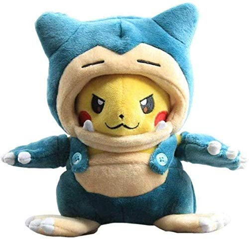 NC56 Anime Snorlax Mania Pikachu Plush Toy 20cm Lovely Pikachu Cosplay Stuffed Dolls Children Gift