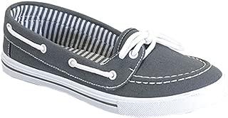Womens Canvas Slip On Boat Shoe Sneaker
