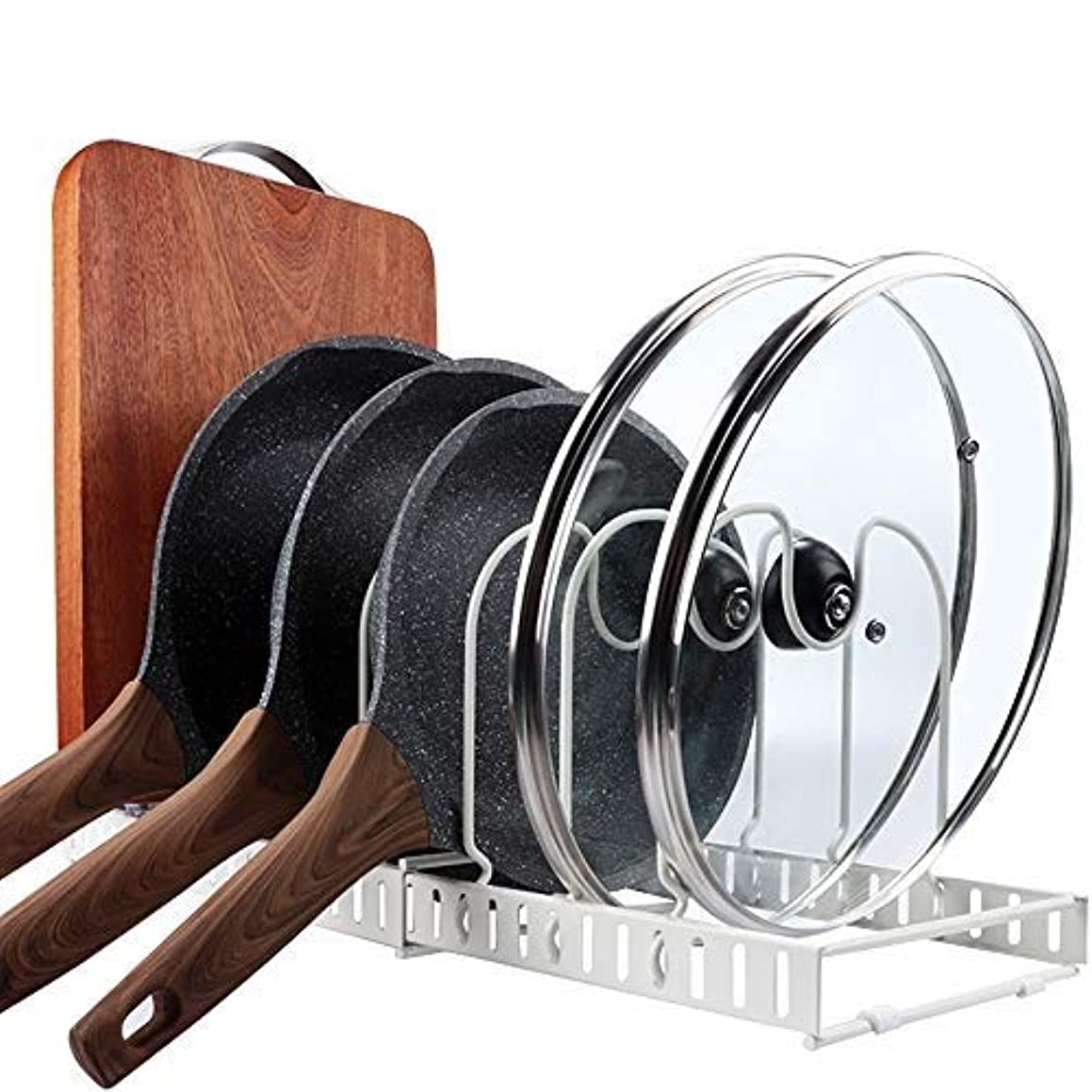 Expandable Pan Pot Lid Organizer Rack,Can Be Extended to 22.25
