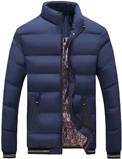 Cappotto Uomo Autunno Inverno Casual Longsleeve Jacket Outdoor Stile Semplice Colori Solidi Moda Sport Giacca da Trekking ...