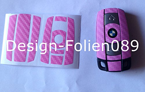 Design-Folien089Schlüssel Carbon Folie, pink Design