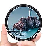 Fotover Filtro ND de 52 mm, filtro de densidad neutra ND ajustable ND Fader ND2-ND400, filtro de lente para Canon Nikon, Sony, Pentax, Olympus, Fuji DSLR + bolsa de filtro de nailon de 3 ranuras.