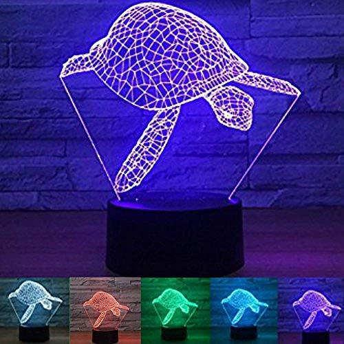 3D Schildpad Dier Nachtlampje Lamp 7 Kleurverandering Led Touch Usb Tafelcadeau Kinderspeelgoed Decoraties Kerst Valentijnsdag Cadeau Verjaardagscadeau