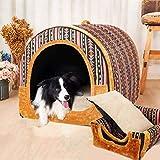 Hundehütte Zwinger Mittlere und große Hunde Faltbarer Waschbarer Hundehaus Haustierraum