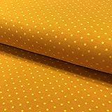 0,5m Jersey Punkte senf-gelb 034 Motivgröße Punkt ca. 3mm