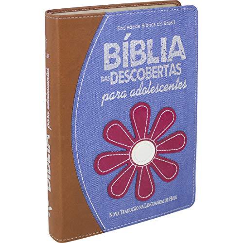 Bíblia das Descobertas para Adolescentes - Couro sintético Jeans: Nova Tradução na Linguagem de Hoje (NTLH)
