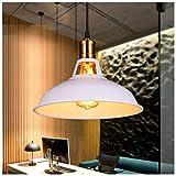 LHTCZZB 27 cm American Country Retro Lámpara de araña Lámpara colgante Personalidad Luz Simple Creativo Moderno Lámpara de cabeza única Bar Cafe Restaurante E27 Lámpara Iluminación interior