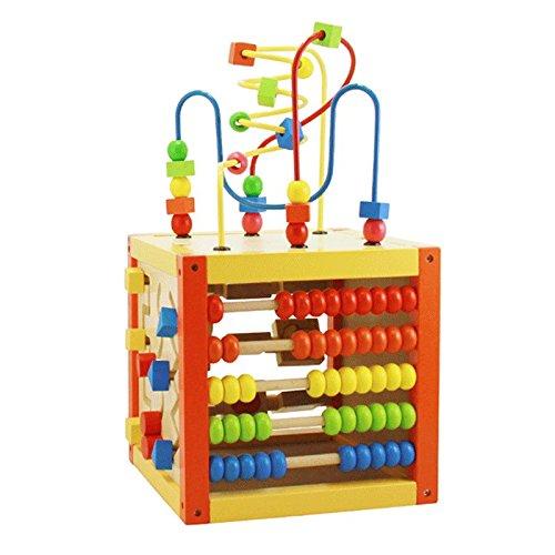 Jouets FEI Multi-Fonctionnels Intelligence Box Toys Puzzle Early Education en Bois pour bébé assemblés Autour 1-3 Enfants Ans Début Éducation