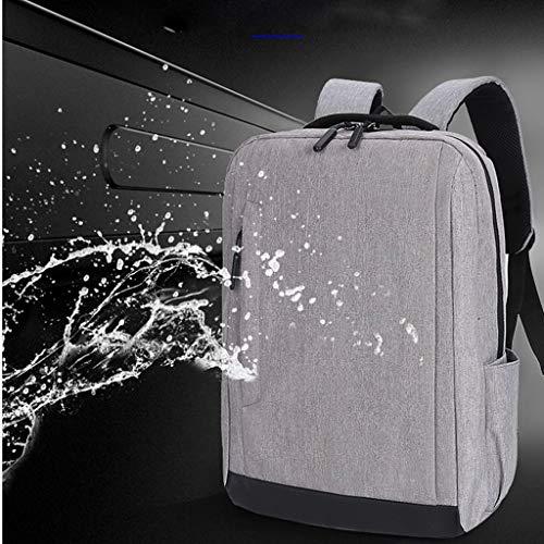 Dasongff Laptoprugzak, schoolrugzak, dagrugzak, waterafstotende laptoptas met USB-aansluiting voor business, school, reizen, vrouwen, mannen en vrouwen F grijs