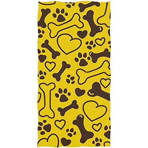 qinzuisp strandhanddoek schattig puppy hond poot grappige dier beker cartoon spa badlaken strand handdoek zeer absorberende badkamer handdoek multipurpose 80x130cm