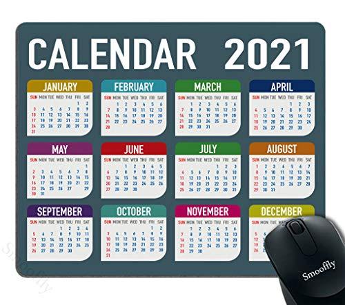 Smooffly Mousepad 2021 Calendar Design Customized Rectangle Non-Slip Rubber Mousepads Gaming Mouse Pad