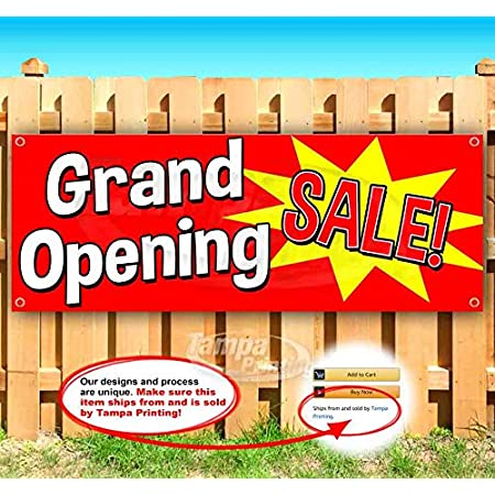 Grand Opening Extra Large 13 oz Banner Heavy-Duty Vinyl Single-Sided with Metal Grommets
