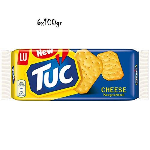 6x TUC Käse cheese Salzgebäck Kekse Crackers Salz gesalzen gebäck 100g