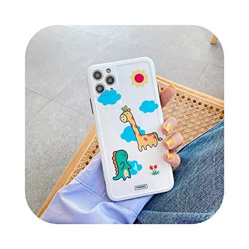 Carcasa para iPhone 11 Pro Max, diseño de jirafa para iPhone 11 Pro Max 8/7Plus iPhone X/XS/XR Silicone-Picture Color-for iPhone 11