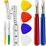 Seam Ripper Set for Sewing Thread Removal – Sewing Supplies with Sharp Ripper, Tailor's Chalk and Measuring Tape – Sewing Tools for Tailors