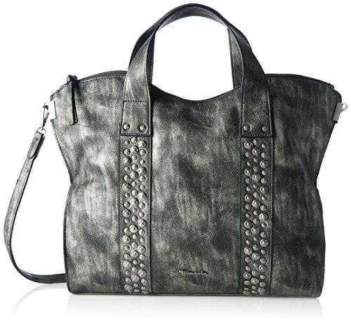 Tamaris Damen Ursula Shopping Bag Schultertasche, Schwarz (black), 11x30x36 cm